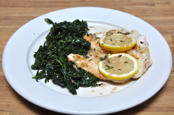 Lemon Chicken Breast with Spinach