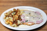 Chicken Breast with Ham & Melted Swiss Cheese