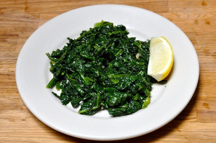 Spinach in Garlic Oil