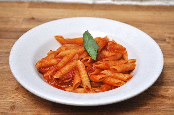 Penne with Tomato Sauce & Fresh Basil