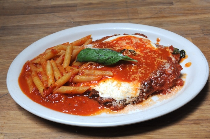 Chicken Parmiggiana with Penne
